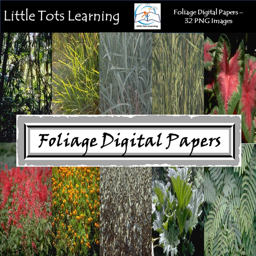 Foliage Digital Papers - Commercial Use - Pack 1