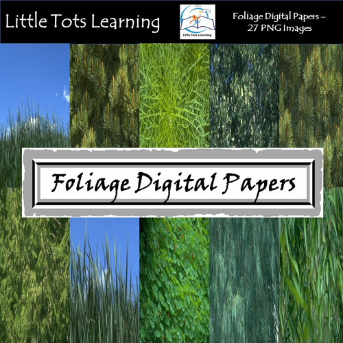 Foliage Digital Papers - Commercial Use - Pack 5