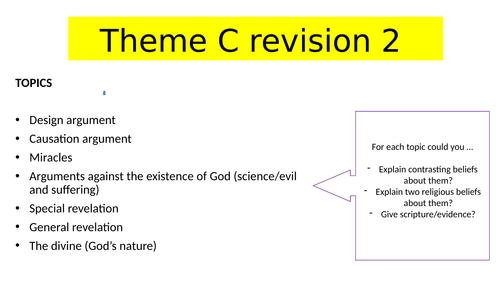 AQA Religious Studies - Theme C revision lessons