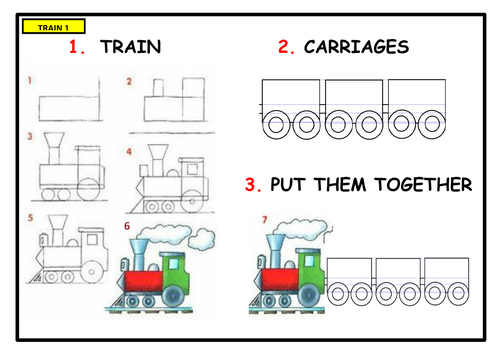 Draw and Paint a TRAIN!