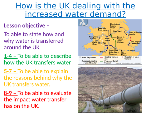 Resource management - Lesson 4 - Water transfer in the UK - AQA GCSE