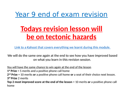 Revision Lessons - Range of different topics - AQA Geography GCSE
