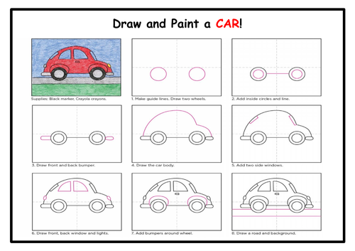 Draw and Paint a CAR!