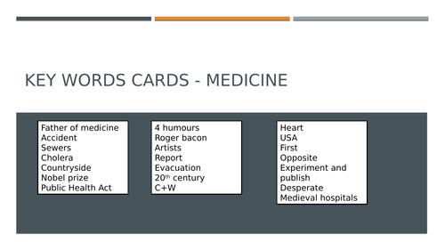 Medicine REvision lesson