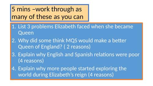 Elizabeth I GCSE Edexcel Revision