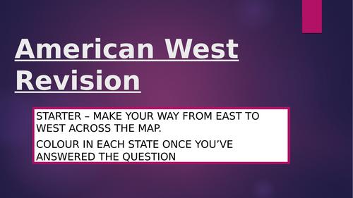American West Narrative Revision Edexcel GCSE