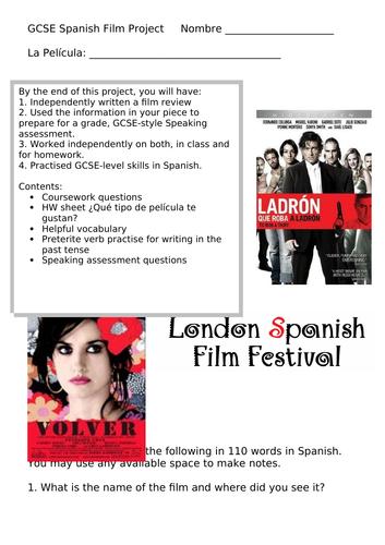 GCSE Spanish Film Project Booklet