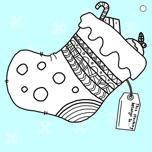 Christmas Stocking Drawing Easy.Christmas Stocking Bunting By Asmith1992 Teaching Resources