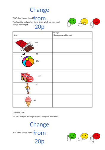 Differentiated change from 20p