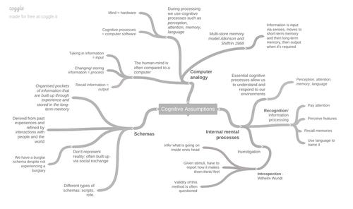 Cognitive Assumptions Mind-maps