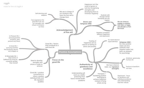 Positive Assumptions Mind-maps