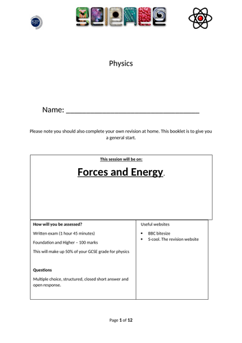 AQA Physics  Revision (Forces and Energy)