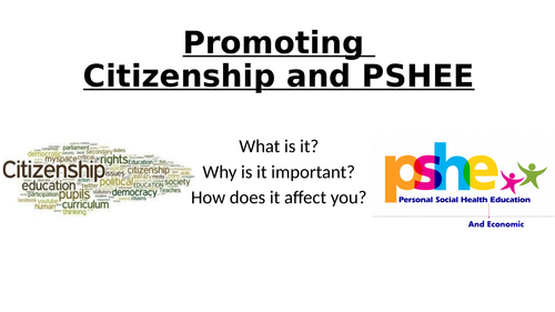 Citizenship and PSHE training