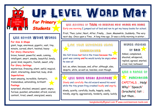 Up Level Word Mat