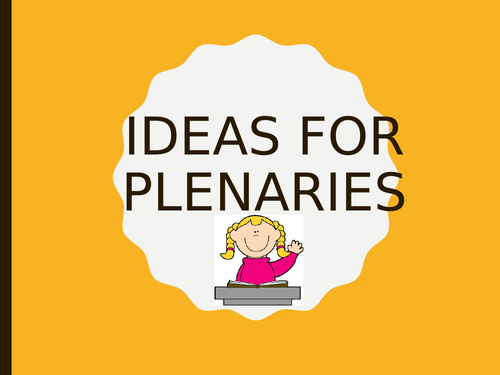 Plenary Ideas