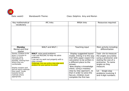 Year 6 sats revision - week of problem solving