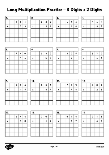 Y6 Sats revision- revise long multiplication and long division
