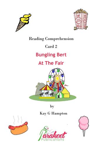 Bungling Bert At Fair Comprehension Card