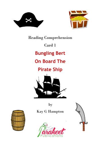 Bungling Bert Pirate Comprehension Card