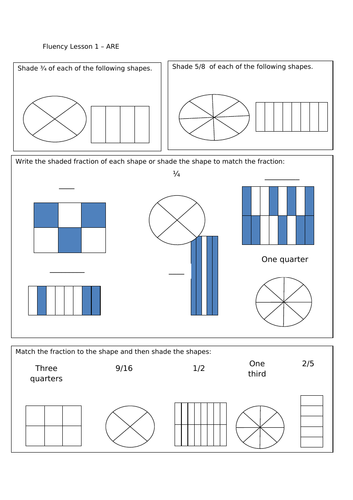 Fractions and Equivalents - Year 4 Maths Planning and Resources