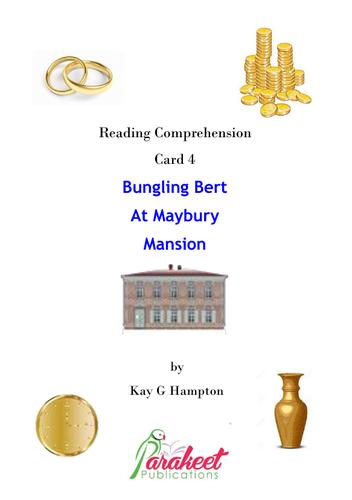 Bungling Bert Mansion Comprehension Card