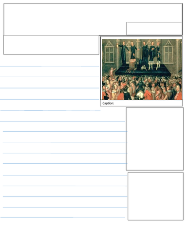 Charles I Newspaper Template By Tomstevenson92 Teaching Resources