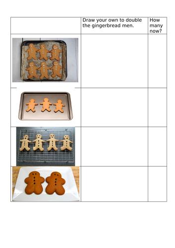 Year R - doubling gingerbread men