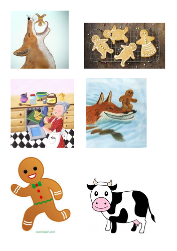 Gingerbread man sequencing cards