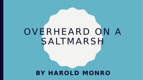 Overheard on a Saltmarsh: PPT, poem and worksheets