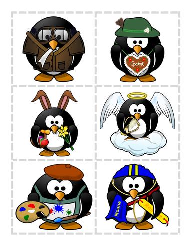La ropa (Los disfraces de Pingu) - Juego de correspondencias