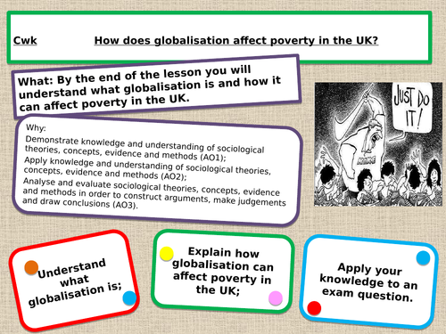 WJEC GCSE Sociology Globalisation and Poverty