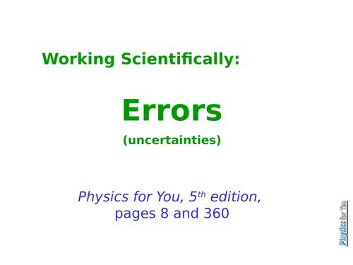 Errors and Uncertainties