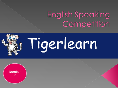 Public speaking competition for ESL/EAL competition format - Number 2