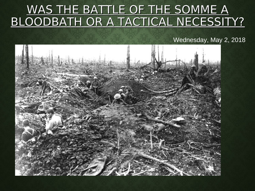 double lesson on the battle of the somme