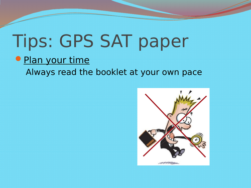 KS2 SAT Revision/Tips Powerpoint resources for GPS, Reading