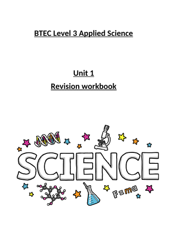 Level 3 Applied Science Unit 1 Exam - Biology revision workbook