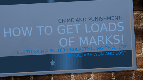 Student Guide to Crime and Punishment Session