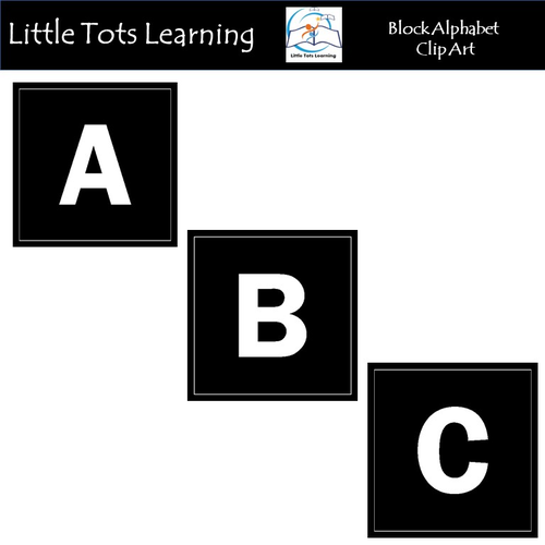Alphabet Block Clip Art - Commercial Use