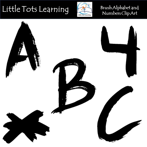 Alphabet and Numbers Clip Art - Black Alphabet and Numbers Clip Art
