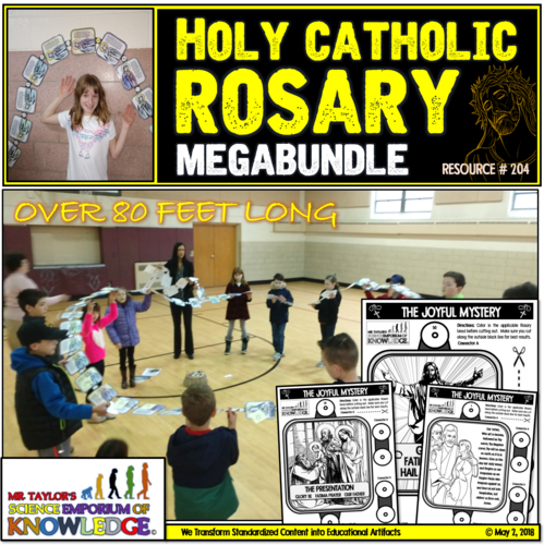 80 Ft Classroom Coloring Rosary (All Mysteries)