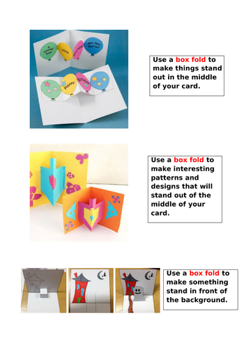 DT pop up books for KS2 unit of work, planning & resources