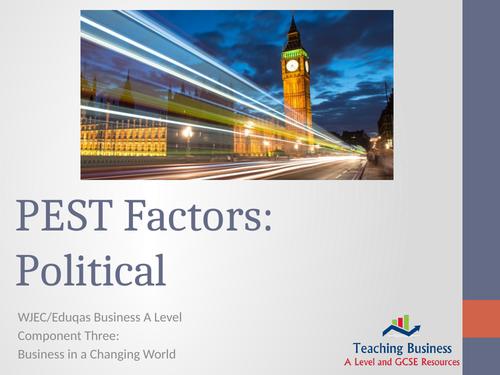 PEST Factors : Political
