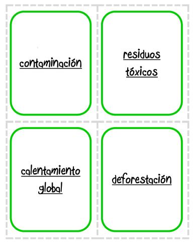 El medio ambiente  (Vocabulario Básico) - Juego de correspondencias