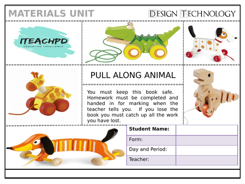 Pull along toy Project for KS3