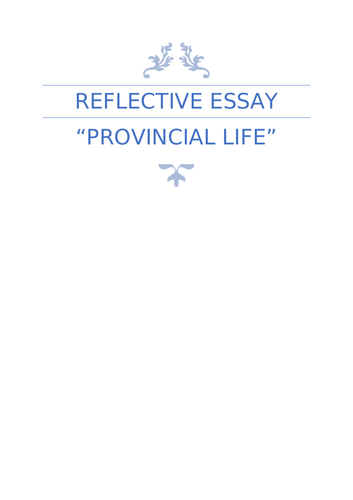 A-grade Higher English Folio Personal Reflective essay Spanish holiday