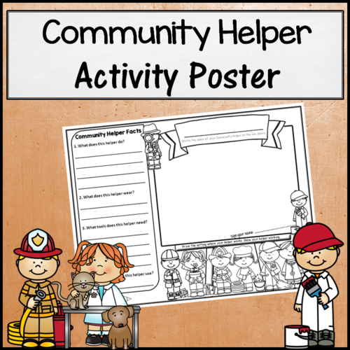Community Helper Activity Poster
