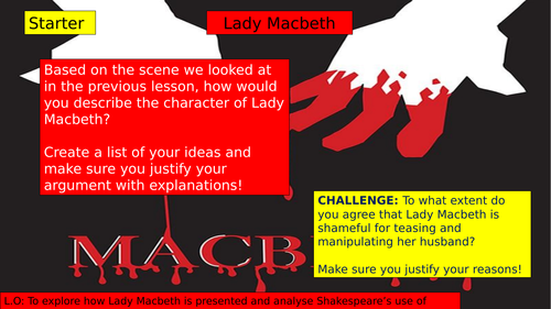 Macbeth: Exploration of Lady Macbeth