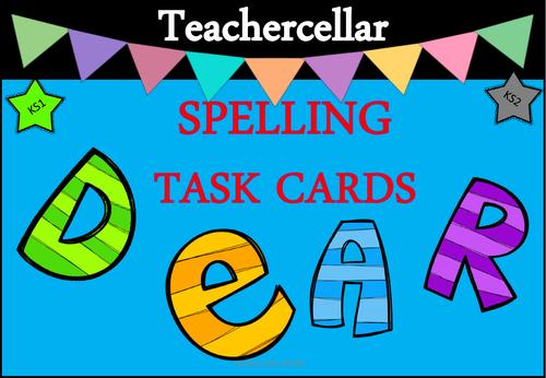 Spelling Task Activity Cards KS1 and KS2