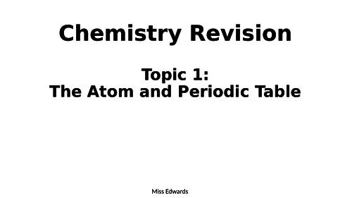AQA GCSE Chemistry - Revision for Chemistry 1 Exam