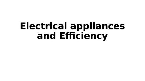AQA 9-1 Appliances & Efficiency lesson